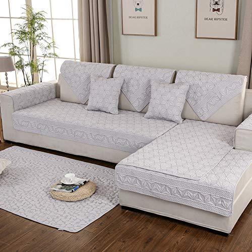 YXR - Cojín de doble cara de algodón lavado de doble cara para sofá de cuatro estaciones, universal, acolchado