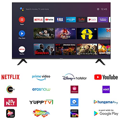 Hisense 146 cm (58 inches) 4K Ultra HD Smart Certified Android LED TV 58A71F (Black) (2020 Model) | With Dolby Vision and ATMOS 4