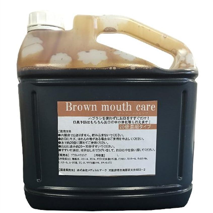 スキニーステッチスリップシューズ業務用洗口液 ガーグル ブラウンマウスケア (Brown mouth care) 20倍濃縮タイプ 5L (詰め替えコック付き)
