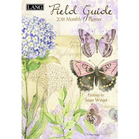 """LANG - 2018 Monthly Planner -""""Field Guide"""", Artwork by Susan Winget - 13-Month: January 2018 - January 2019-8.5"""" x 12"""""""