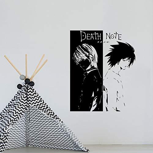 Calcomanía de vinilo para pared de Anime Death Notey Kira Manga Hentai pegatinas de vinilo arte mural decoración del hogar cita habitación de niño