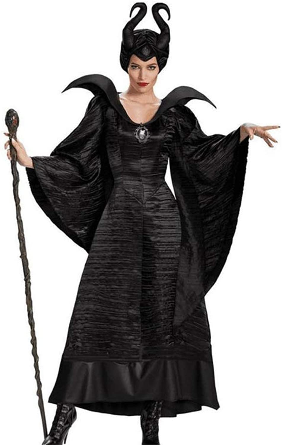 Yunfeng Witch Costume Halloween Role Play Sleeping Spell Dark Witch Demon Queen Costume Stage Performance Costume