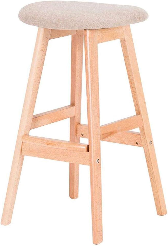 AAA Solid Wood Stool, Breakfast Bar Stool Bar Cafe Dining Chair Leisure Bar Stool Height 71cm