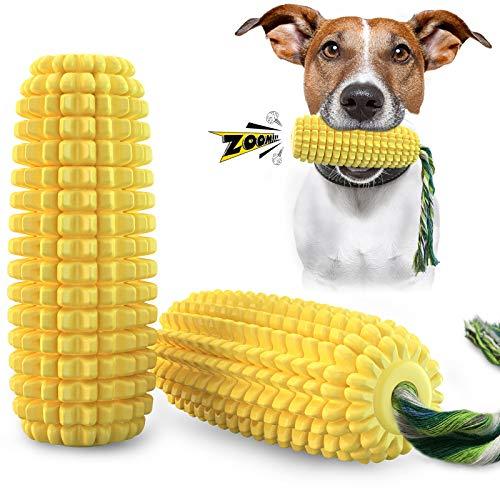 Aoweika Hundespielzeug UnzerstöRbar Welpe Kleine Große Hunde,Maisförmiges Quietschendes Hundespielzeug Zahnpflege Hundezahnbürste Kauspielzeug Zahnreinigung Langlebig & Robust