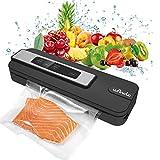 machine sous vide alimentaire, Wancle Appareil de Mise Sous Vide Alimentaire Automatique avec 10 Sacs pour Viandes, Légumes, Aliments, Fruits, 110W