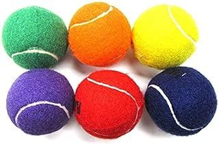 Coast Athletic Color Tennis Ball Set | Green, Orange, Yellow, Purple, Red, Blue Tennis Balls | (6 Pack)