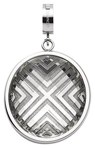 JEWELS BY LEONARDO Damen-Anhänger & clips Cori Darlin's Edelstahl Glas klar silber grau Clipverschluss 016538