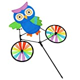 She-Lin Owl Wind Spinner - Kids Wind Spinners - Fun Spinner for Your Flower Pot's, Garden and Yard - 1pcs
