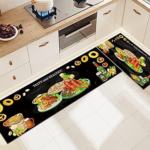 SunYe Alfombra Rectangular Alfombra De Cocina para Alimentos De Frutas Y Verduras Alfombra Absorbente Antideslizante Y Lavable Adecuada para Cocina Hotel Hogar