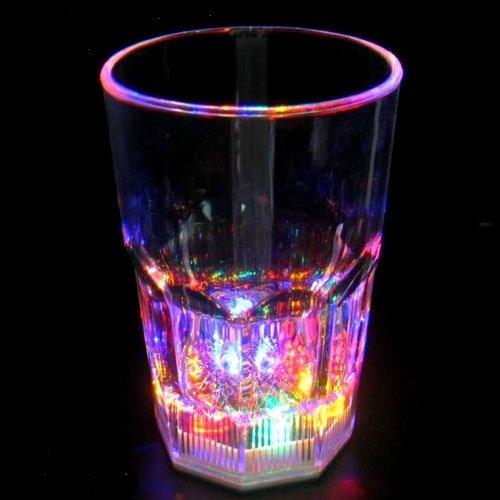 GW Handels UG LED Cocktailglas, Trinkglas 400 ml blinkend, Longdrink Glas, bunt mit Farbwechsel