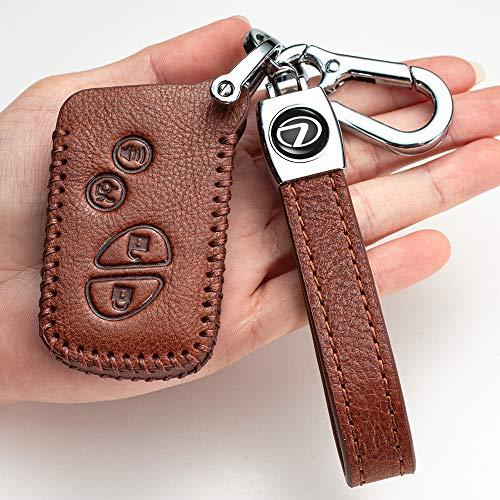 ffff Car Key Cover Suit for Lexus Genuine Leather case & Easy Installation: which is The Ultimate Protection Against Scratches, Scuffs and Cracks. It is Easy to Install This Key fob Cover.