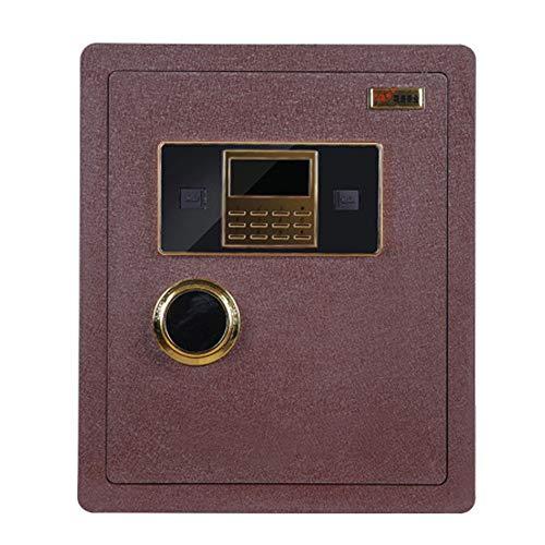 JWIL Büro sicher Password Lock Box for Home Office Doppelte Sicherheit Key Lock und Digital Security-Safe Schränke für ID-Papiere, A4-Dokumente, Laptop-Computer (Color : Red, Size : 38x32x45cm)