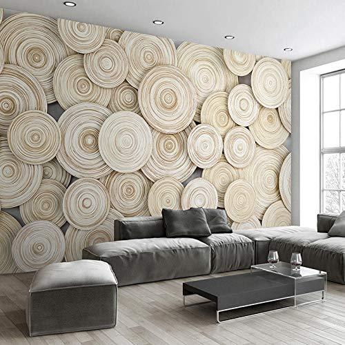 Papel tapiz mural personalizado grande Diseño moderno Textura de madera 3D Sala de estar Fondo de TV Papel tapiz de arte decorativo de pared Revestimiento de paredes-360X280CM