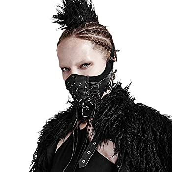 PUNK RAVE Men s Punk Mask Party Streetwear Hip Hop Rock Motocycle Personality Cool Style Halloween Mask  Women s Size