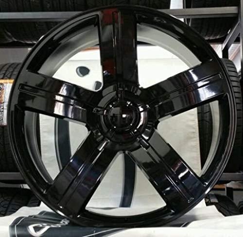 4 New Texas Edition 26x10 6x139.7 +25 Replica Wheels Gloss Black Machine Silverado Sierra Tahoe Yukon Suburban Escalade