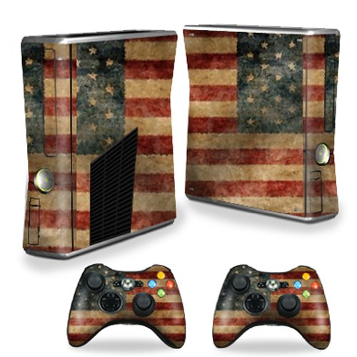 MightySkins Skin Compatible with X-Box 360 Xbox 360 S Console - Vintage Flag | Protective, Durable, and Unique Vinyl Decal wrap Cover | Easy to Apply, Remove, and Change Styles | Made in The USA