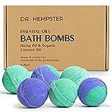 Natural Bath Bomb Gift Set - Hemp Bath Bombs...