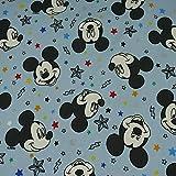 Disney Jersey Micky Maus, Sterne, blau (50cm x 150cm)