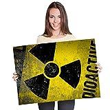 Pster de vinilo de Destino A1 - Radioactive Warning Nuclear Chernobyl Art Print 90 X 60 cm 180 gsm satinado papel fotogrfico #8950