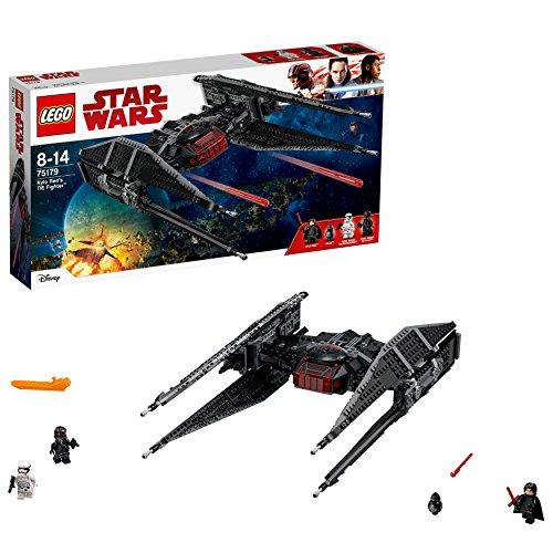 LEGO Star Wars - Tie Fighter de Kylo Ren, Nave Espacial de Juguete de la Saga La Guerra de las Galaxias (75179)