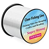 Fishing Wire, Acejoz Fishing Line Clear 656 FT Invisible Hanging Fishing Wire Strong Fishing String Supports Up to 70 Pounds for Hanging Decoration Balloon Garland Crafts