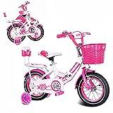 DODOBD Bicicleta Infantil 14 Pulgadas Bicicletas para Niños y Niñas 3-9 Años 12 14 16 18 Pulgadas Plegable Bicicleta de Niño con Ruedines de Entrenamiento Desmontables y Frenos,Azul