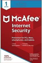 McAfee Internet Security 1 المستخدم ( Pc, Mac, الهاتف الذكي أو التابلت )