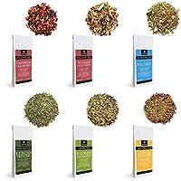 RINAMA – Lot de 6 paquets d'infusions aux plantes et aux fruits en vrac – Sélection raffinée, 6 mélanges parfumés – Qualité Autrichienne – Cadeau idéal pour les amateurs de thés et tisanes