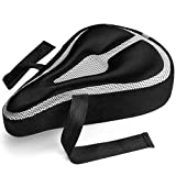 Roam Gel Bike Seat - Extra Soft Gel Bicycle Seat - Bike Saddle Cushion with Water & Dust Resistant Cover (Black)