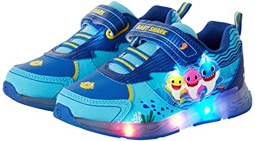 Nickelodeon Toddler Boys' Sneakers - Baby Shark Running Shoes, Size 9 Toddler, Light Up Baby Shark
