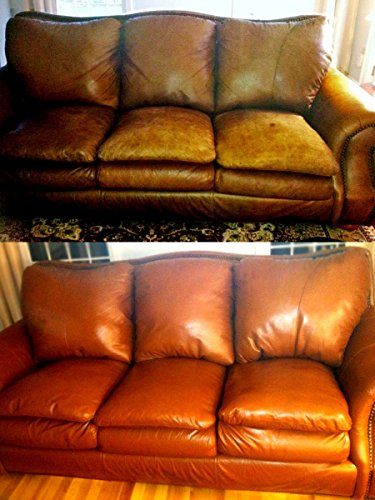 Leather Repair Kit/Leather Color Kit/Cleaner/Color Restorer/Sponge Applicator (Leather Repair) (Vinyl Repair) (Leather Dye) (Dark Brown)