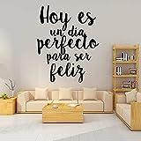 JXCDNB Pegatinas de Pared de Frase española Tallada Vinilo Impermeable Decoración del hogar Sala de Estar Habitación de los niños Fondo Wall Art Decal en AliExpress 43cm X 53cm