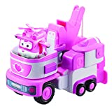Super Wings - Dizzy's Rescue Tow | Transforming Toy Vehicle Set | Includes Transform-a-Bot Dizzy Figure | 2' Scale