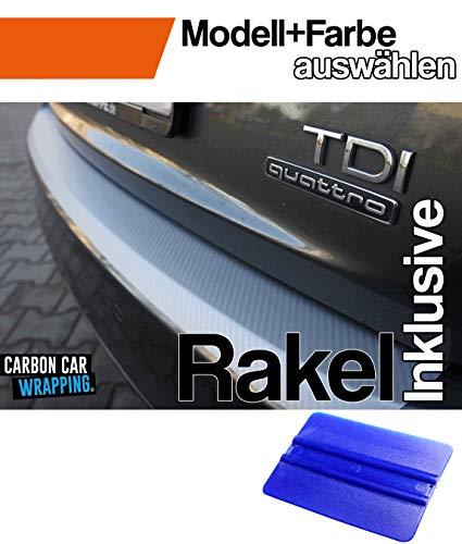 Preisvergleich Produktbild V-KLASSE Vito Viano 638 Ladekantenschutz Lackschutzfolie mit Profi-Rakel von WIZUALS© mit Profi-Rakel - in 3D Carbon Silber