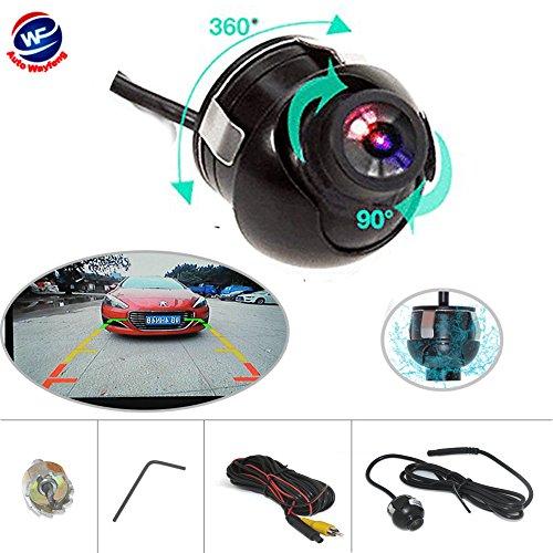Auto Wayfeng WF® Universal Auto Rückfahrkamera 360 Grad Einstellbar HD Farbe Nachtsicht Für Parkplatz Monitor DVD (Spiegel + Parkleitlinie)