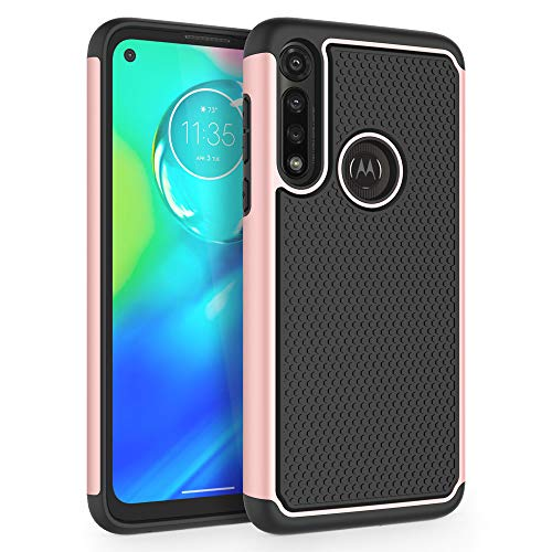 "SYONER Shockproof Phone Case Cover for Motorola Moto G Power (6.4"", 2020) [Rose Gold]"