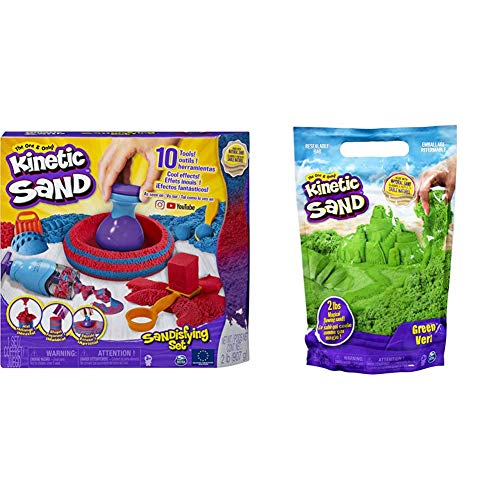Kinetic Sand 6047232 - Sandisfying Set & 6047182 - grün, 907 g