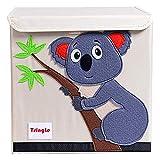 TsingLe - Caja de almacenamiento plegable para niños lona de dibujos animados, gran capacidad...