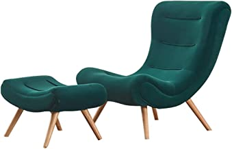 Lazy Sofa, Snail Chair for Living Room, Single Sofa Modern Minimalist Recliner Sofa with Footrest Stool for Bedroom Balcon...
