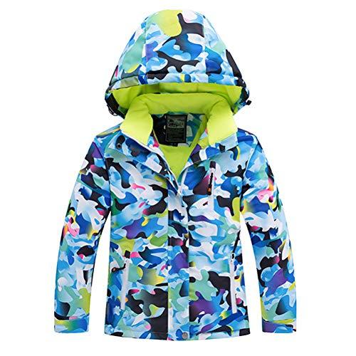 MQAIFEKS WintersportSet Anzug für Print Flower HoodedDown Suit Snowboard Jacken + Hosen Zweiteilige Kleidung