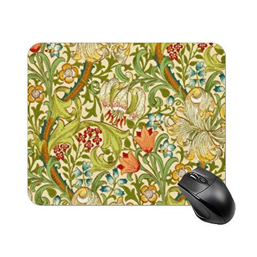 Yilooom William Morris Golden Lily Vintage Pre Raphaelite Rectangle Non Slip Rubber Mousepad Gaming Mouse Pad 9'x7'