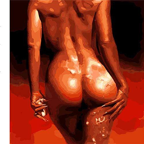 NOBRAND Hq Sexy Woman Nude Decoración De Pared Diyoil Pintura Imagen por Números Lienzo Pintura para Colorear para Adultos Acrílico Pintura Desnuda por Números