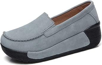 JOYBI Women Platform Moccasins Loafers Slip On Round Toe Comfort Fashion Ladies Casual Flat Driving Shoes