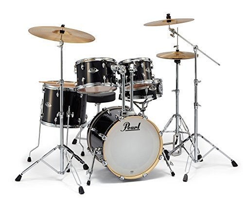 Pearl EXPORT EXX785/C Jet Black ジュニアサイズ ドラムセット シンバル付 【バスドラム18インチ】 パール