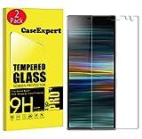 CaseExpert 2 Pack - Sony Xperia L3 Protector de Pantalla, Ultra Tanque Transparente Cristal 9H Cristal Templado Glass Protector de Pantalla para Sony Xperia L3