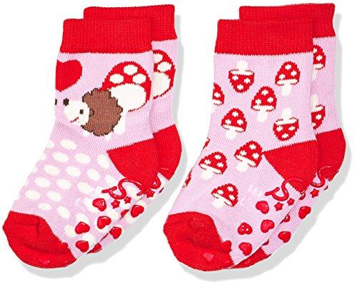 Sterntaler Baby-Mädchen ABS-Söckchen DP Igel Socken, Rosa (malve 706), 20