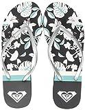 Roxy Bermuda Print, Zapatos de Playa y Piscina para Mujer, Multicolor (Black/Blue Bkb), 38 EU