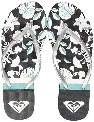 Roxy Bermuda Print, Zapatos de Playa y Piscina para Mujer, Multicolor (Black/Blue Bkb), 39 EU