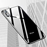 Yica iPhone X Hülle, Dünn Crystal Clear Transparent Handyhülle Cover Soft Premium-TPU...