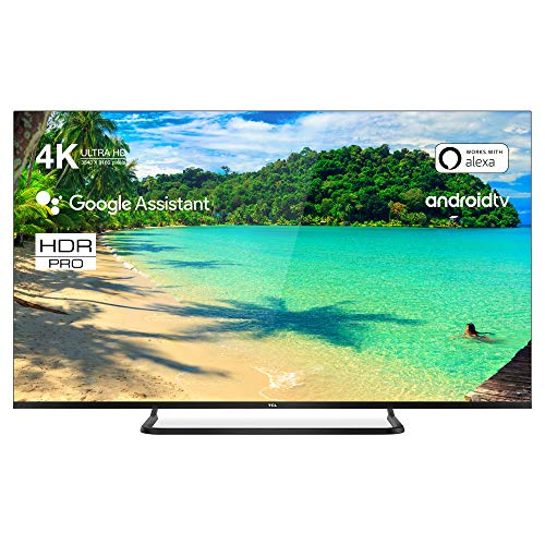 TCL | 55EP681 | Smart TV Ultra Slim: Risoluzione 4k HDR PRO, Assistente Google integrato, Dolby Audio Integrato. Colore: Titanio , 55 Pollici (Classe energetica A+)